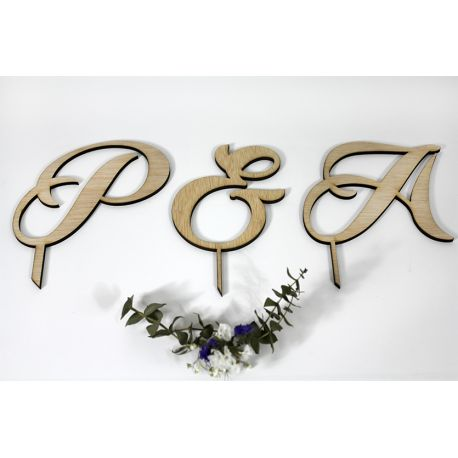 Pack de iniciales para la tarta de boda