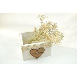 Caja pequeña personalizada - decoracion de bodas , comuniones , eventos y congresos
