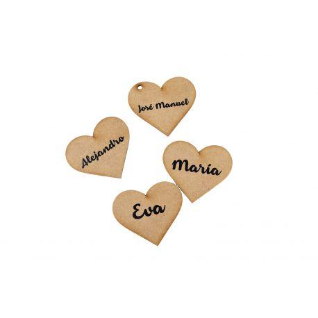 Marcasitios corazón madera