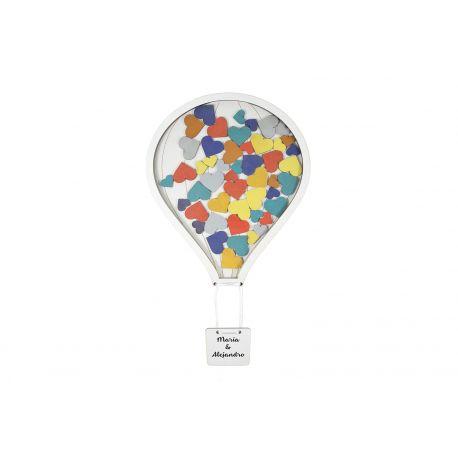Libro de firmas globo - 50 piezas colores