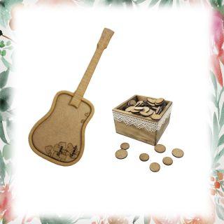Pack guitarra 50 + caja pequeña personalizada