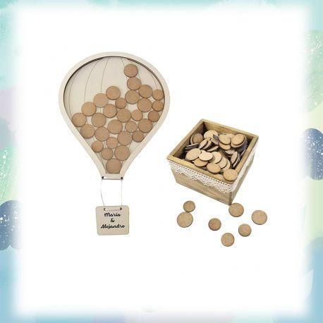 Pack globo 50 + caja pequeña personalizada