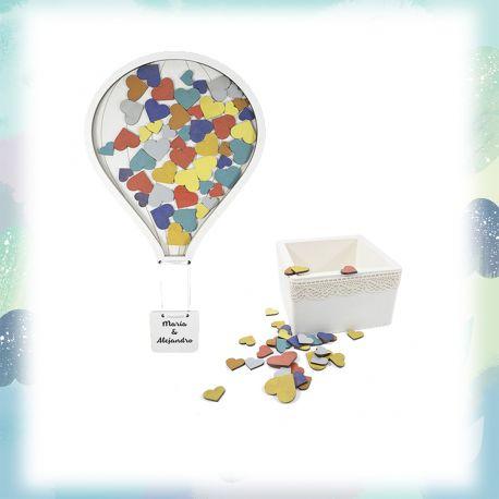 Pack globo colores 100 + caja pequeña personalizada
