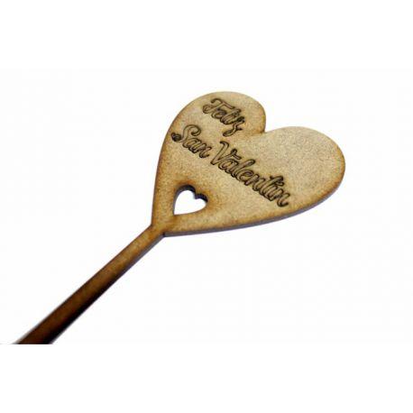 Topper Corazón Feliz San Valentín