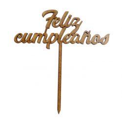 Topper Feliz Cumpleaños Decoracion de Tartas  ,  dulces, Flores , regalos