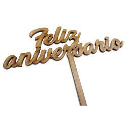 Topper Feliz Aniversario Decoracion de Tartas  ,  dulces, Flores , regalos