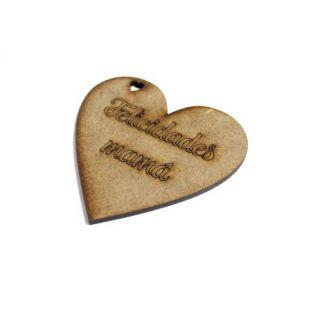 Etiqueta Felicidades mamá Corazón