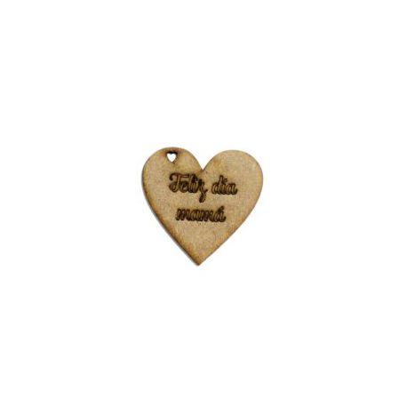 Etiqueta Feliz día mamá Corazón