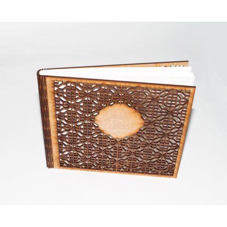 Libro de firmas de madera troquelada