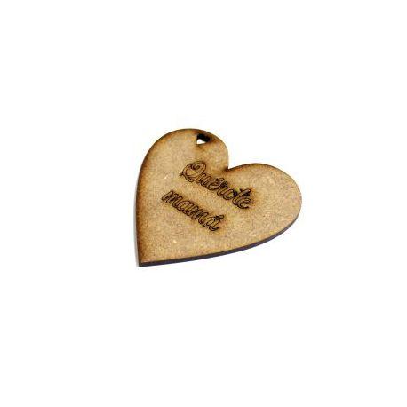 Etiqueta Quérote mamá Corazón