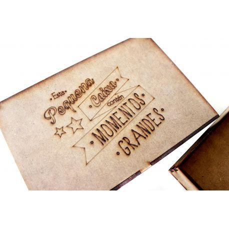 Caja de madera troquelada personalizable