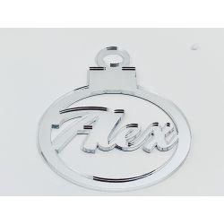 Bola de navidad personalizada  plata - modelo 1