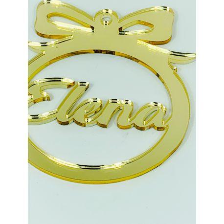 Bola de navidad personalizada  dorada - modelo 1