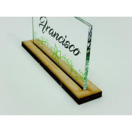 Marcasitios Cartel Transparente - modelo 1