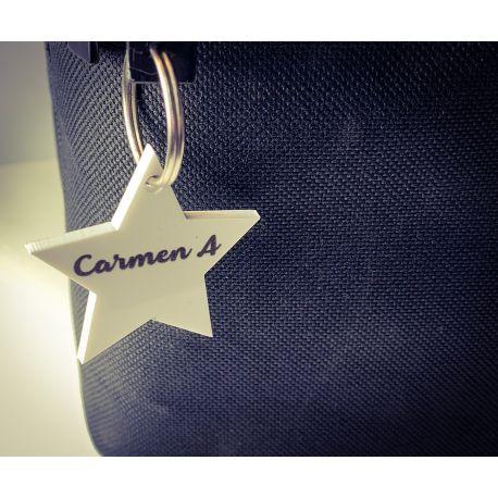 Llavero Estrella Personalizada