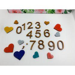 Números , puntos y comas en madera estilo 2 - decoracion de bodas , comuniones , eventos y congresos