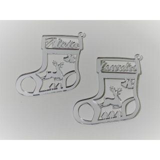 "BOLA DE NAVIDAD "" Christmas Boot""  Personalizada Madera - Modelo XXL"
