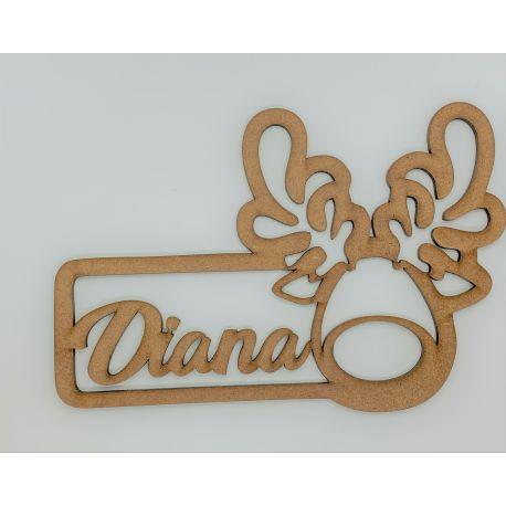 Cartel reno nombre personalizado en madera