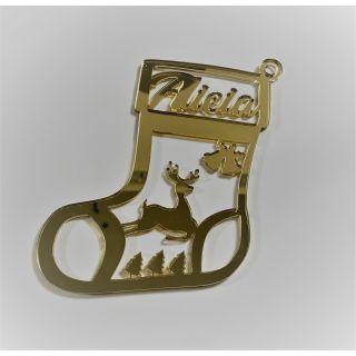 "BOLA DE NAVIDAD "" Christmas Boot""  Personalizada Dorada - Modelo XXL"