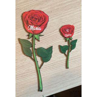 Rosa Impresa Personalizada Grande