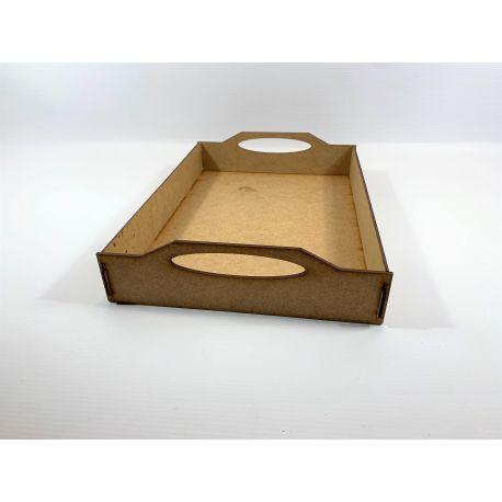 Cajas asa madera 32x22x6 cm